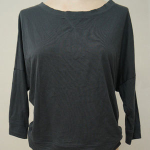 Banana Republic Shirt Top Gray 3/4 Sleeves